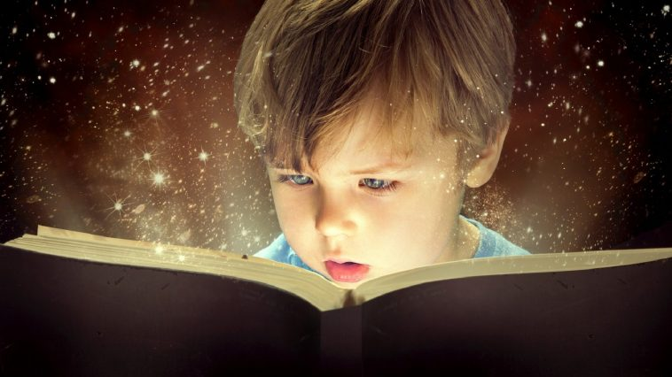 child-magical-book