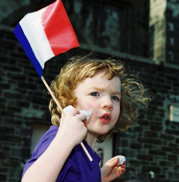 child-with-french-flag